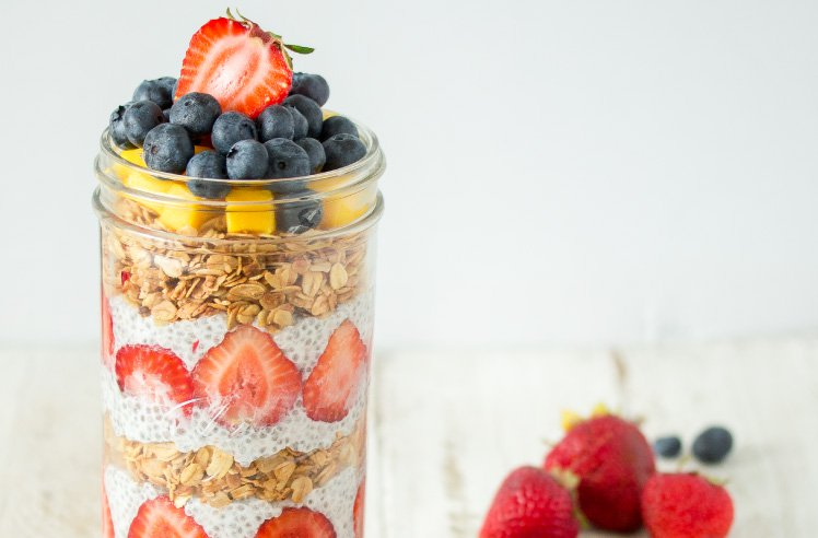 Summer Chia Pudding Parfait