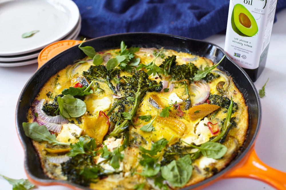 Golden Beet and Broccoli Frittata
