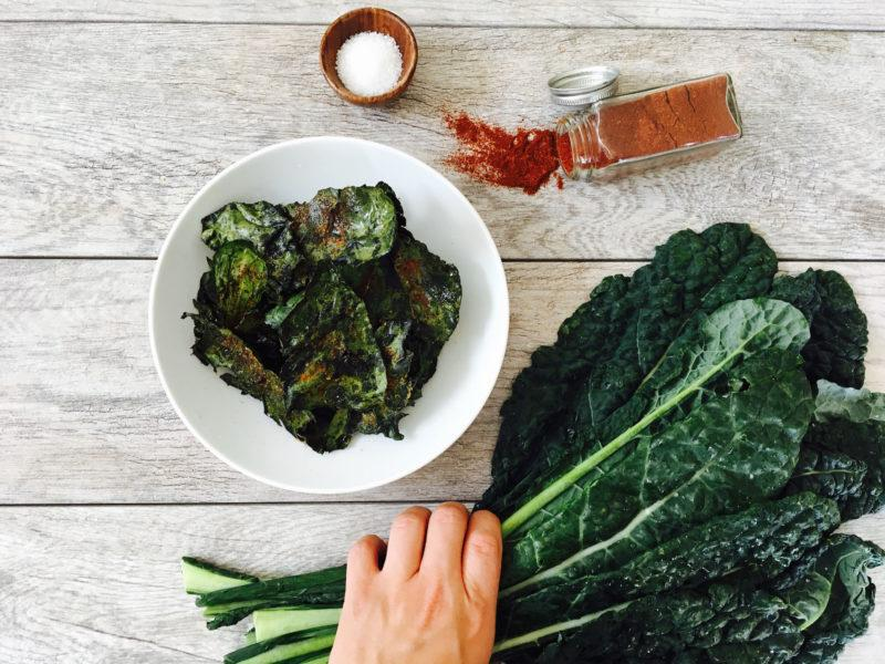 Baked Kale Chips with Avocado Oil