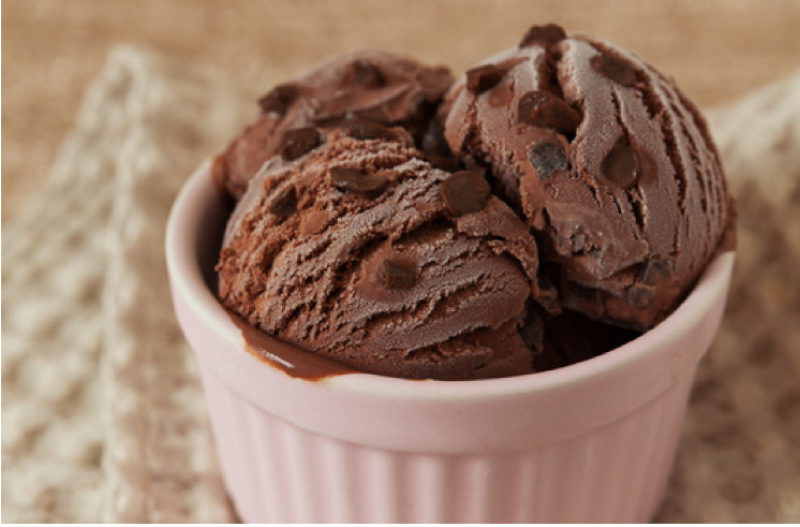 Chocolate Coconut Chia Ice Cream with Peanut Butter Swirl