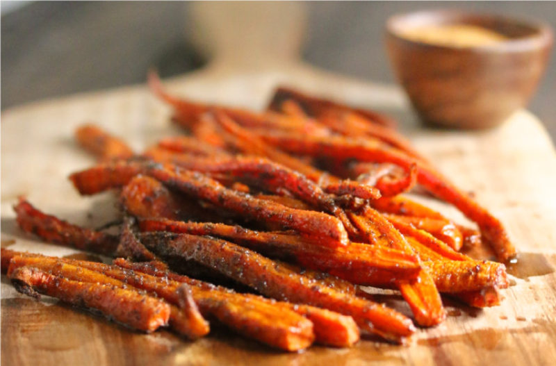 Indian Spiced Sesame Carrots