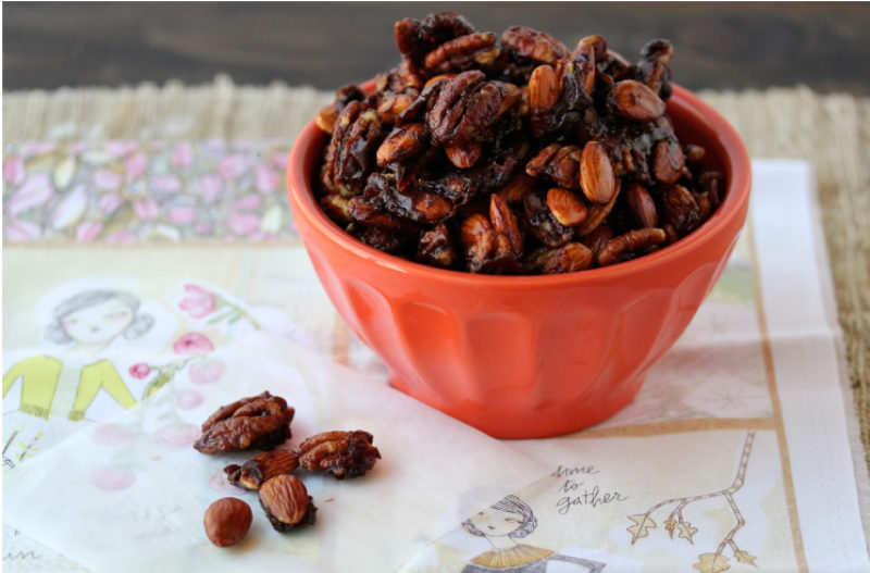 Pumpkin Spice Roasted Nuts