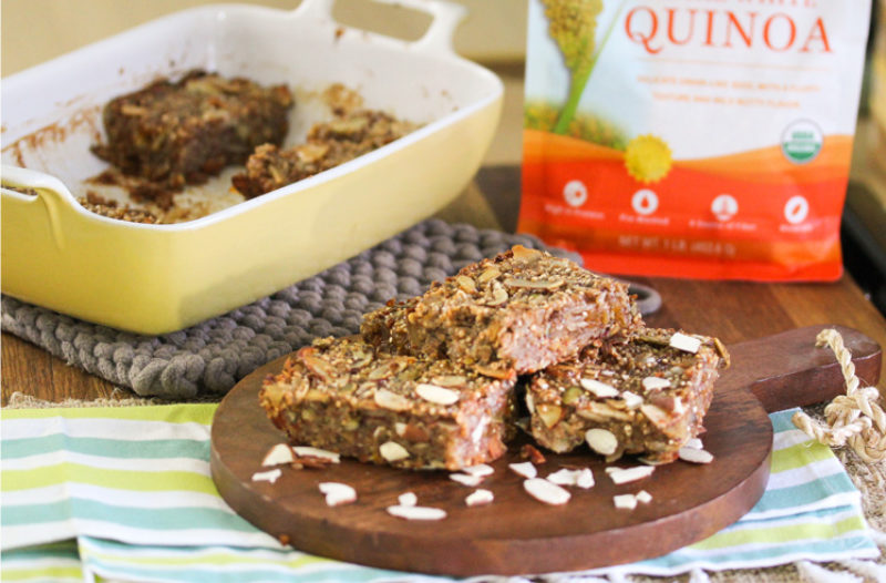Sprouted Quinoa Fruit & Nut Bars