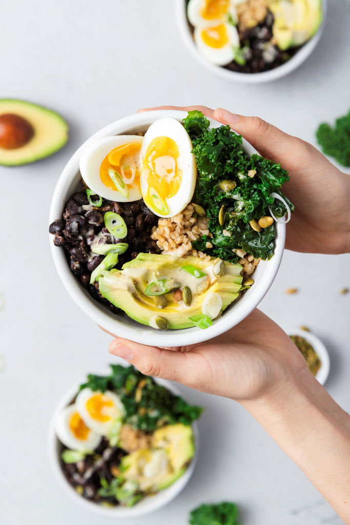 Chosen Foods Whole Grain Breakfast Bowl with Soft Boiled Egg, Freekeh and Baja Goddess Dressing