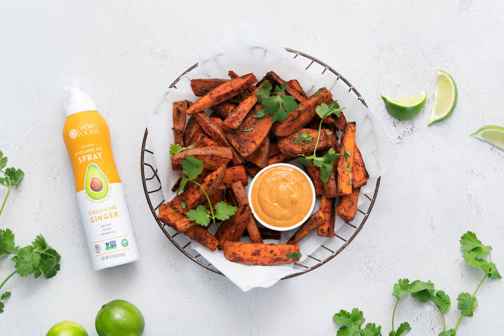 Chosen Foods Crispy Sweet Potato Wedges with Peanut Sauce