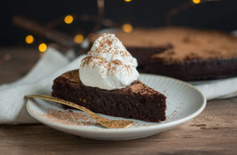 Flourless Chocolate Peppermint Cake