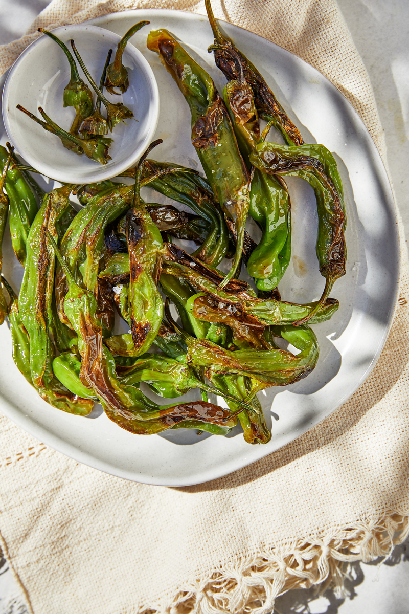padron peppers made with Chosen Foods Avocado Oil