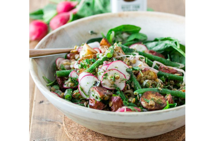 Roasted Potato Salad with Lentils & Green Beans1
