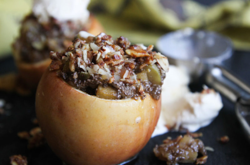 Stuffed Baked Apple Crisp