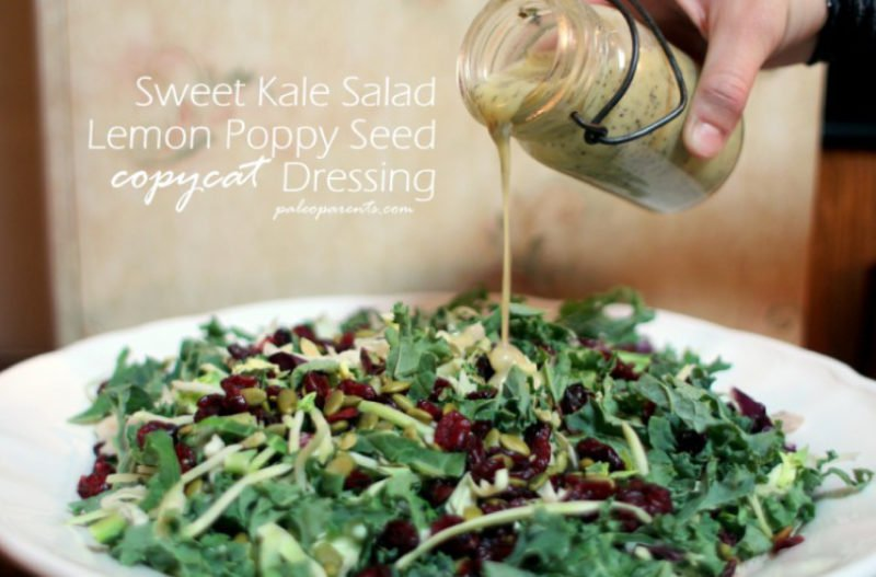 Copycat Sweet Kale Salad Lemon Poppy Seed Dressing
