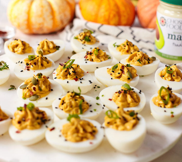 Pumpkin Spiced Deviled Eggs2