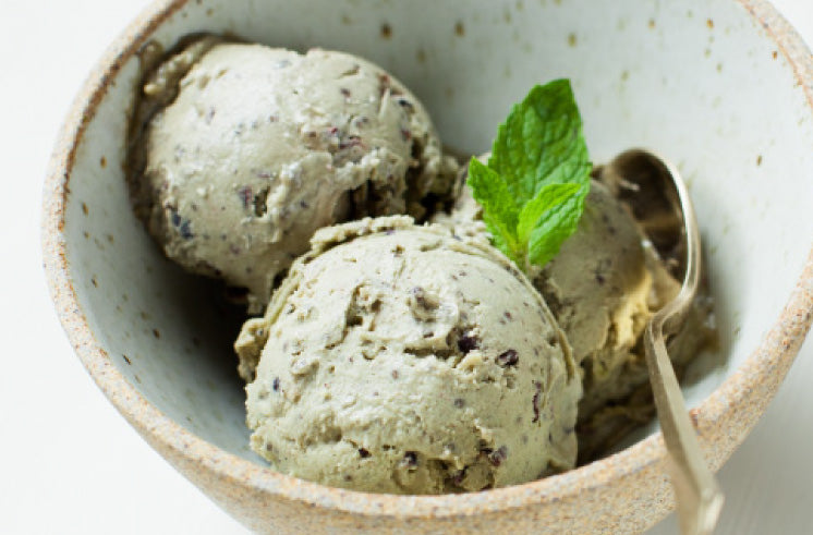 Raw Vegan Chia Mint Chip Ice Cream