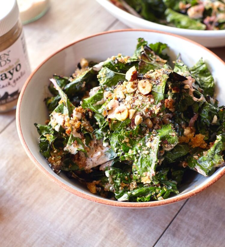 Grilled Kale with Black Garlic Dressing4