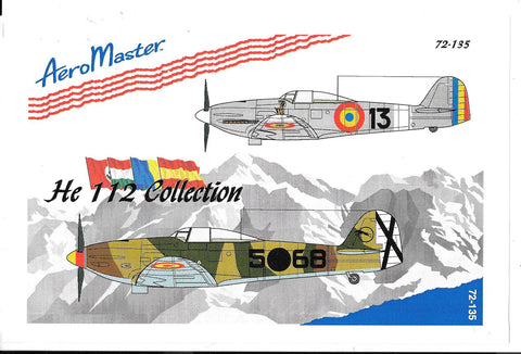 AeroMaster He-112 Collection Decals 1/72  135