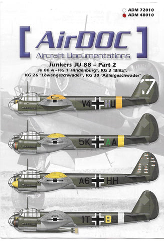 AirDoc Junkers JU-88 Part 2 Decals 1/48 10