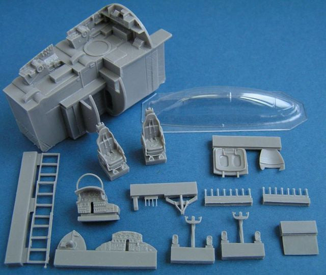 B-47E Stratojet Cockpit Interior Detail Set 1/72 WBDR72001 For Hasegawa Kit