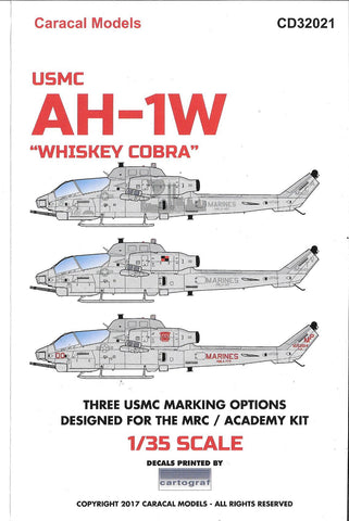 Caracal Models, USMC AH-1W 'Whiskey Cobra'/ 9-11 Never Forget Decals 1/35 32 021 DO