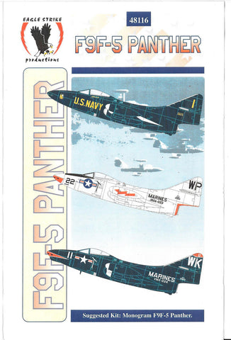 Eagle Strike F9F-5 Panther Decals Part III 1/48 116