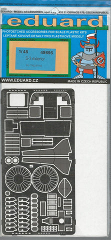 Eduard S-3 Viking Exterior Photo Etch Details 1/48 696