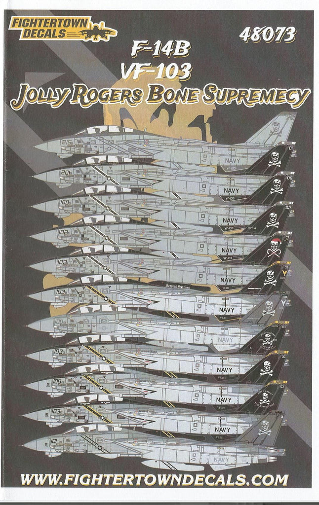 Fightertown F-14B Tomcat Decals 1/48 073 VF-103 Jolly Rogers 'Bone Supremacy'