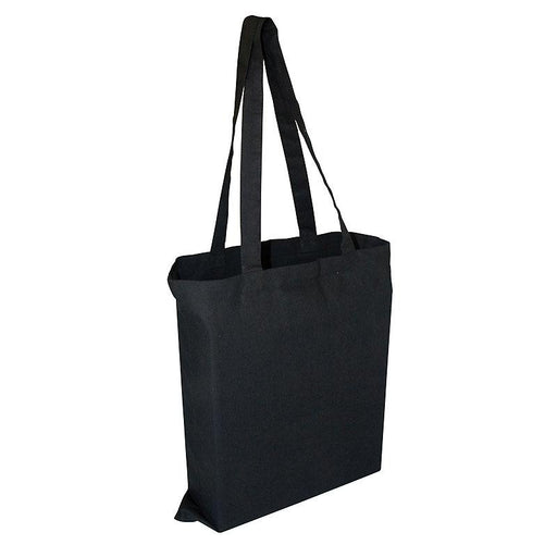 Birch 8oz Black Canvas bag with 3 sided gusset