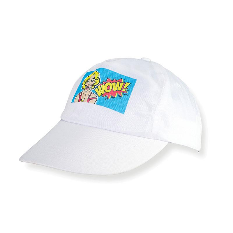 WHITE SUBLIMATION BASEBALL CAP