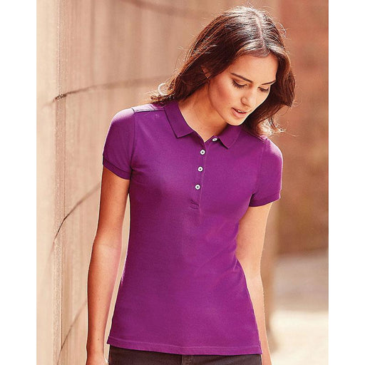 Ladies stretch polo shirt