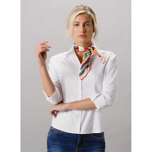 Ladies 3/4 sleeve Oxford Shirt