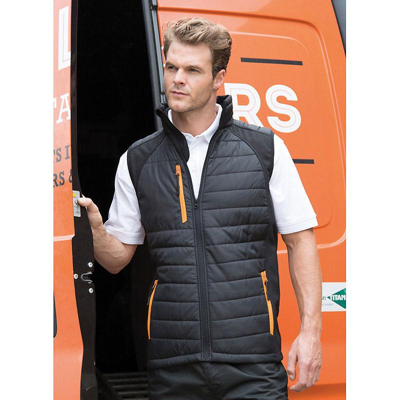 Black Compass Padded Gilet