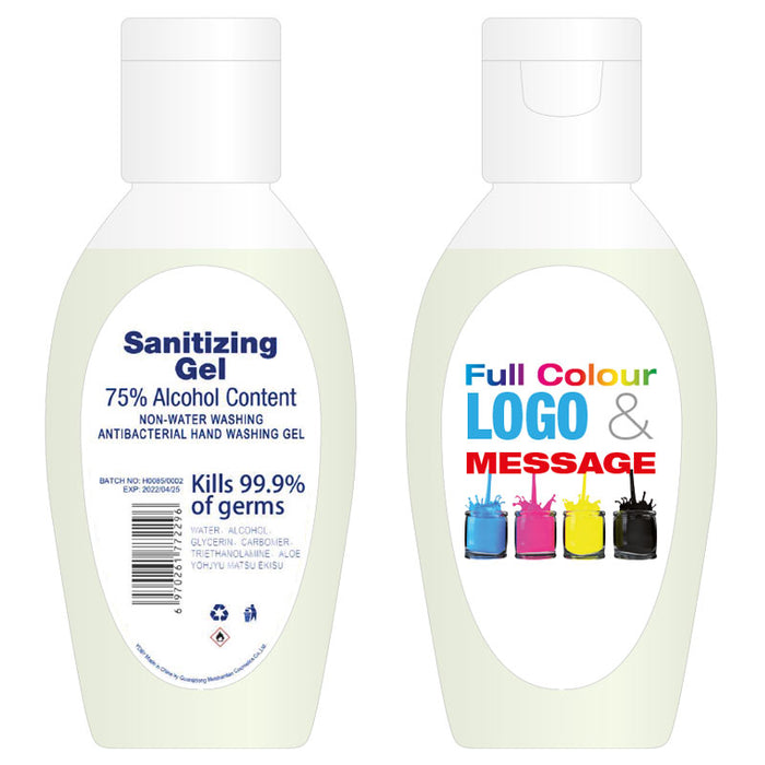 Branded 50ml Antibacterial (75% Alcohol) Hand Sanitizer