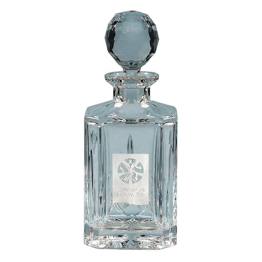 0.8ltr Blenheim Lead Crystal Panel Square Spirit Decanter