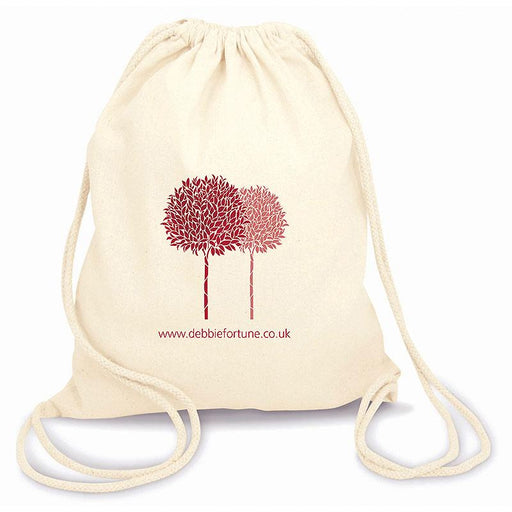 Green & Good Columbia Fairtrade & Organic natural cotton drawstring backpack