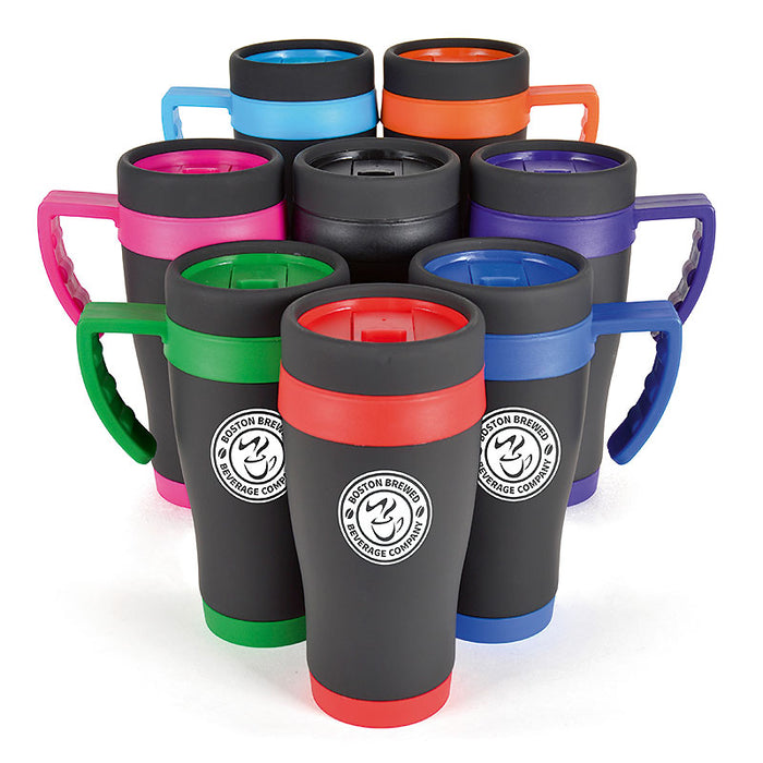 Oregan Black Travel Mugs 450ml