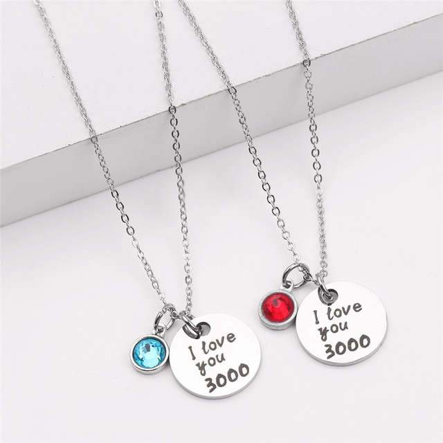 I Love You 3000 Crystal Necklace
