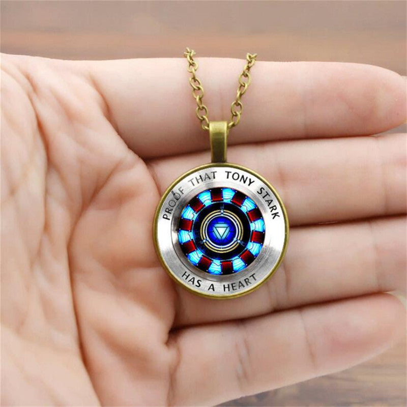 Tony Stark Arc Reactor Necklace