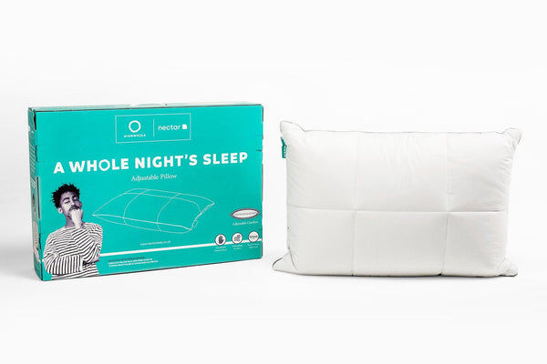 A WHOLE NIGHT'S SLEEP ADJUSTABLE MEMORY FOAM PILLOW