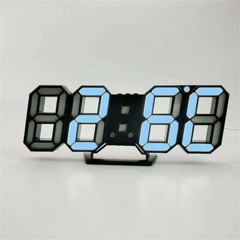 3D LED Digital Clock | BlackBlue - Texuh Port. The Business, Brand & Influencer Store. FREE SHIPPING ON ALL ORDERS. Influencer Marketing, Influencer Tools, Business Tools, Business Marketing, Content Creator.