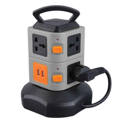 7-Outlet Power Tower | EU / Gray - Texuh Port. The Business, Brand & Influencer Store. FREE SHIPPING ON ALL ORDERS. Influencer Marketing, Influencer Tools, Business Tools, Business Marketing, Content Creator.