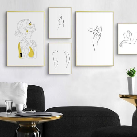 Abstract Line Drawing Prints | - Texuh Port. The Business, Brand & Influencer Store. FREE SHIPPING ON ALL ORDERS. Influencer Marketing, Influencer Tools, Business Tools, Business Marketing, Content Creator.