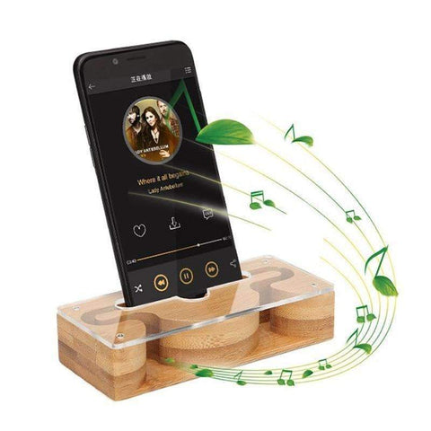 Bamboo Phone Holder and Acoustic Amplifier | - Texuh Port. The Business, Brand & Influencer Store. FREE SHIPPING ON ALL ORDERS. Influencer Marketing, Influencer Tools, Business Tools, Business Marketing, Content Creator.