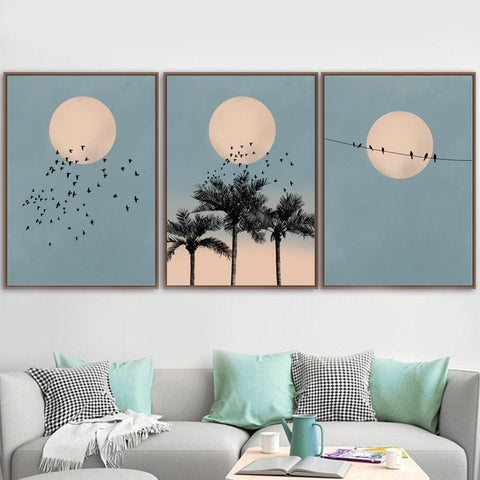 Daylight Moon Wall Canvas | - Texuh Port. The Business, Brand & Influencer Store. FREE SHIPPING ON ALL ORDERS. Influencer Marketing, Influencer Tools, Business Tools, Business Marketing, Content Creator.