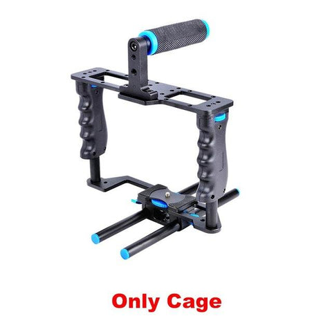 Dual Grip Shoulder Rig | Cage Only - Texuh Port. The Business, Brand & Influencer Store. FREE SHIPPING ON ALL ORDERS. Influencer Marketing, Influencer Tools, Business Tools, Business Marketing, Content Creator.
