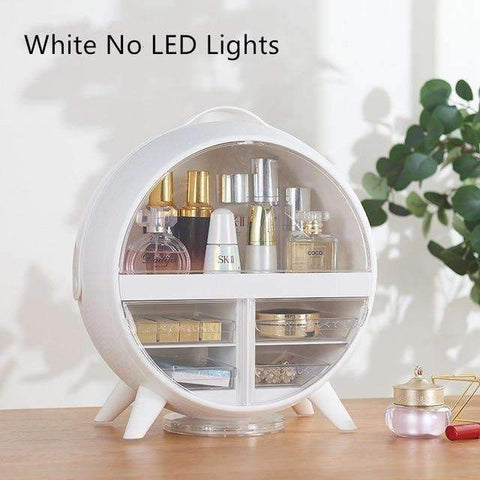 LED Makeup Storage Box | White / No - Texuh Port. The Business, Brand & Influencer Store. FREE SHIPPING ON ALL ORDERS. Influencer Marketing, Influencer Tools, Business Tools, Business Marketing, Content Creator.
