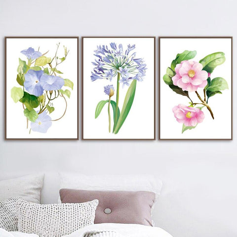 Flower Wall Canvas Painting | - Texuh Port. The Business, Brand & Influencer Store. FREE SHIPPING ON ALL ORDERS. Influencer Marketing, Influencer Tools, Business Tools, Business Marketing, Content Creator.