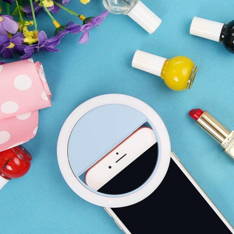 Portable Selfie Ring Light | Battery Powered / Blue - Texuh Port. The Business, Brand & Influencer Store. FREE SHIPPING ON ALL ORDERS. Influencer Marketing, Influencer Tools, Business Tools, Business Marketing, Content Creator.