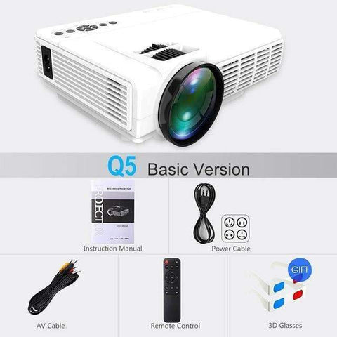 Powerful Q5 LED Projector |by Texuh Port | from 110.00 | Color   | Monitors and Screens |  |