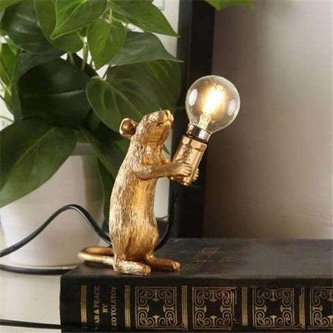 Resin Mouse Tabletop Lamp | Gold Standing - Texuh Port. The Business, Brand & Influencer Store. FREE SHIPPING ON ALL ORDERS. Influencer Marketing, Influencer Tools, Business Tools, Business Marketing, Content Creator.