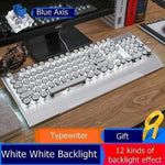 Retro Round Wired Keyboard | White - Texuh Port. The Business, Brand & Influencer Store. FREE SHIPPING ON ALL ORDERS. Influencer Marketing, Influencer Tools, Business Tools, Business Marketing, Content Creator.
