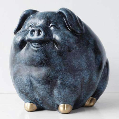 Smiling Pig Tip Jar | Texture Blue - Texuh Port. The Business, Brand & Influencer Store. FREE SHIPPING ON ALL ORDERS. Influencer Marketing, Influencer Tools, Business Tools, Business Marketing, Content Creator.