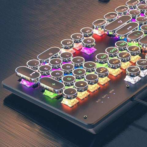 Steampunk Backlit Wired Keyboard |by Texuh Port | from 74.02 | Color   | Gaming Keyboard |  |